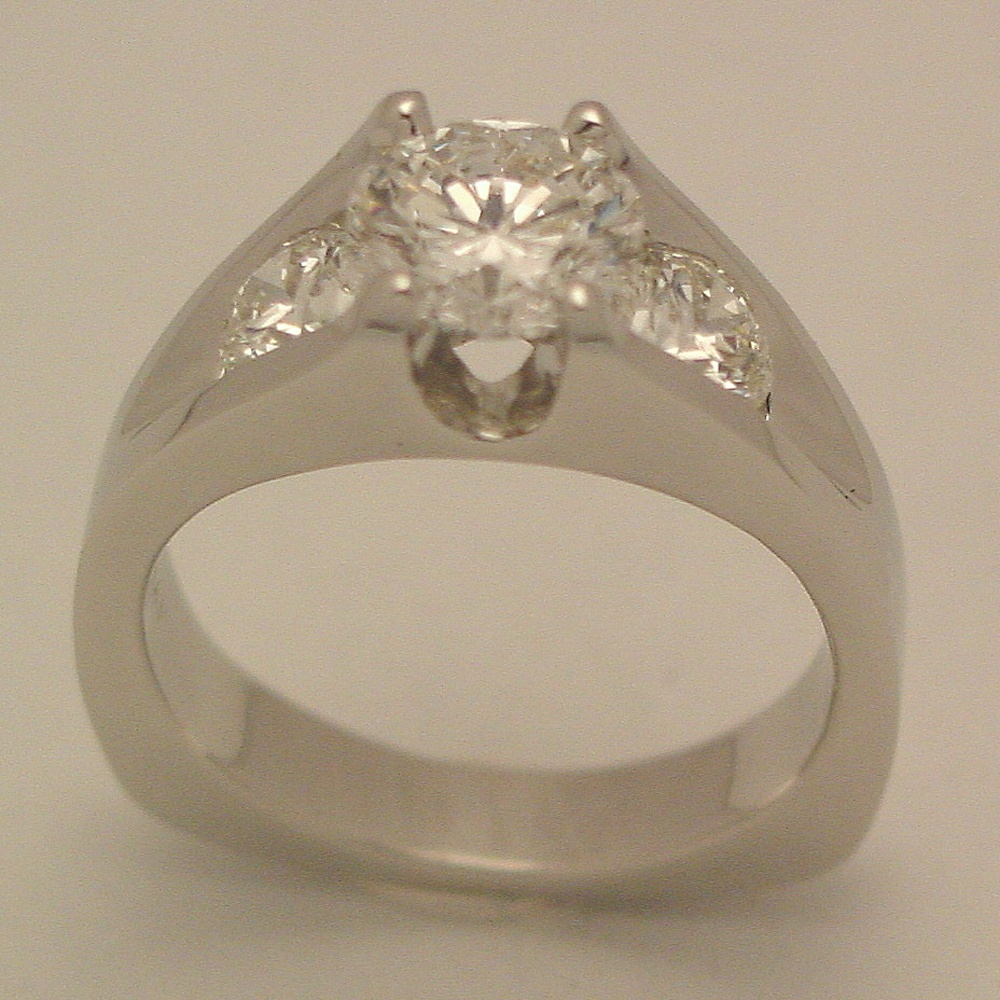 14k White Gold 1ct Diamond Aspen Ring