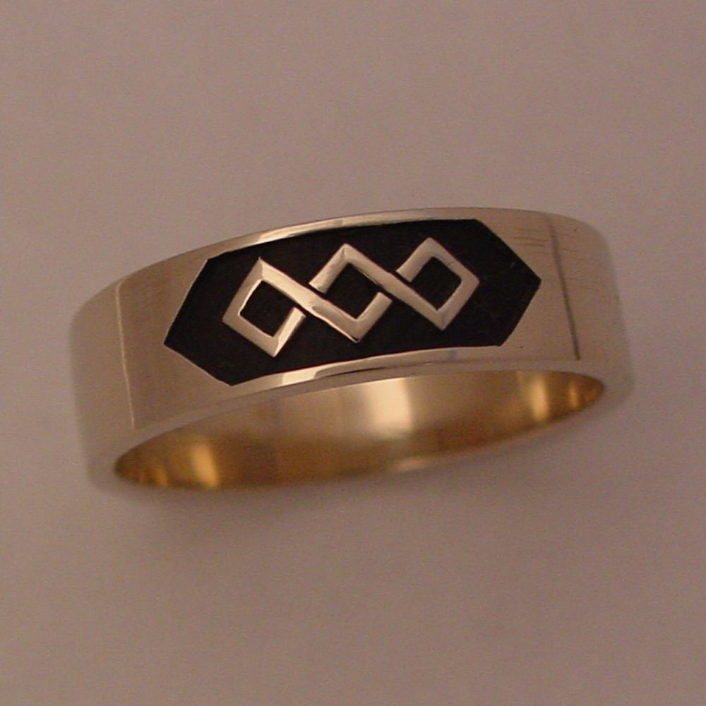 14k White Gold Celtic Knot Ring