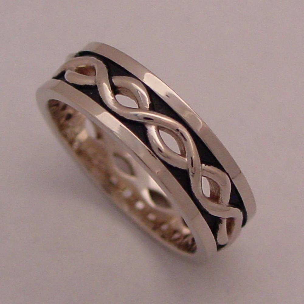 14k White Gold Celtic Weave Ring