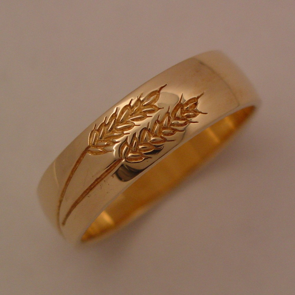 14k Yellow Gold Wheat Ring