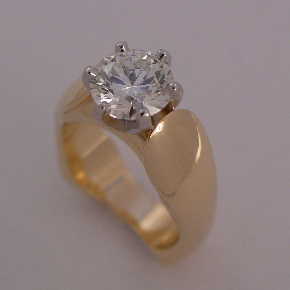 18k Yellow Gold 2ct Diamond Ring