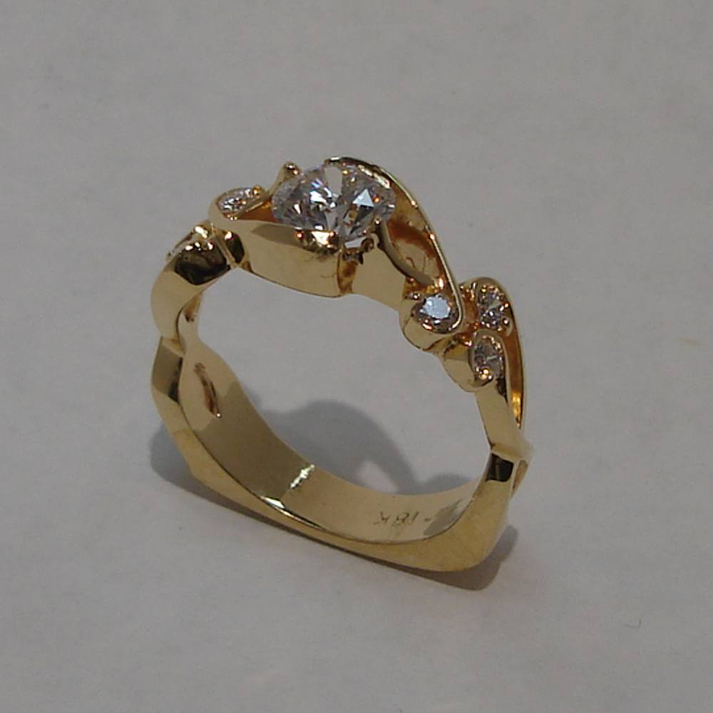 18k Yellow Gold Diamond Whitewater Ring